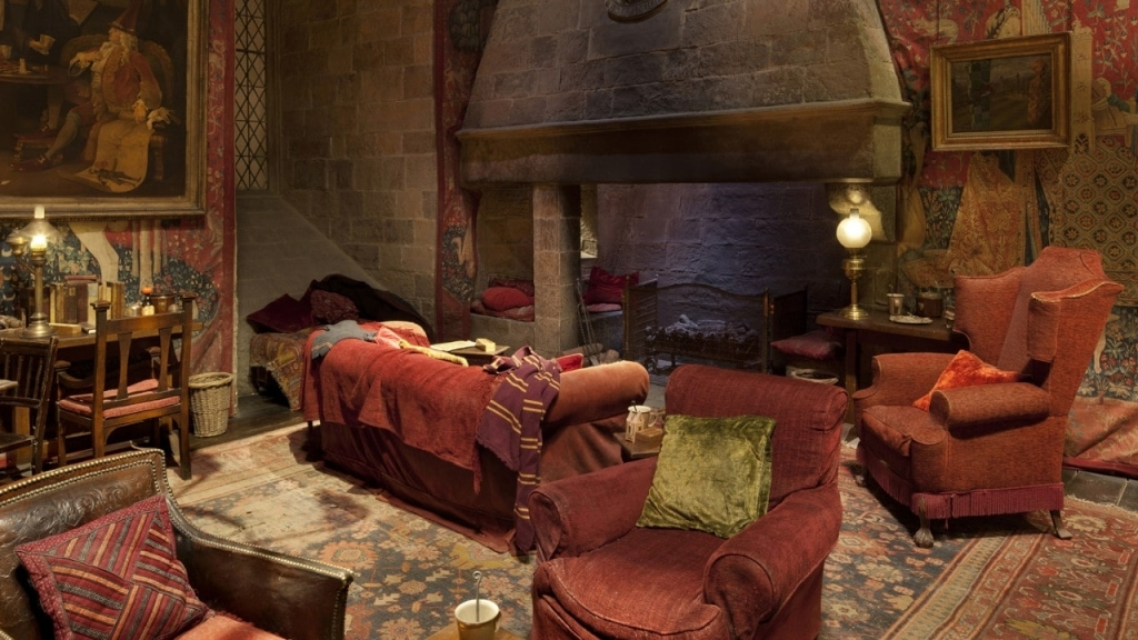 Gryffindor Common Room at The Making of Harry Potter